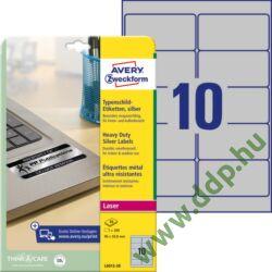 Etikett címke speciális ipari ezüst poliészter 96x50,8mm 20ív L6012-20 Avery-Zweckform