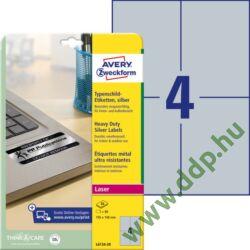 Etikett címke speciális ipari ezüst poliészter 105x148mm 20ív L6134-20 Avery-Zweckform
