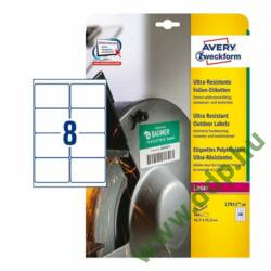 Etikett címke ultra ellenálló 99,1x67,7mm 10ív Avery-Zweckform