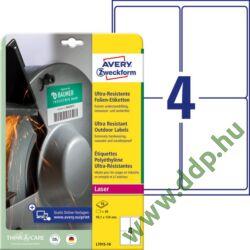 Etikett címke ultra ellenálló 99,1x139mm 10ív Avery-Zweckform