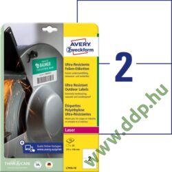 Etikett címke ultra ellenálló 210x148mm 10ív Avery-Zweckform