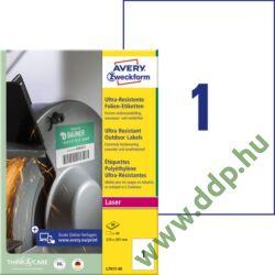 Etikett címke ultra ellenálló 210x297mm 40ív Avery-Zweckform