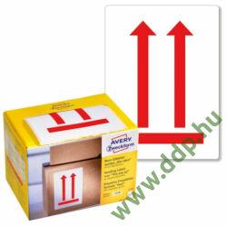 Etikett címke piktogram -A nyíllal megegyező irányba állítandó!- 74x100mm Avery-Zweckform