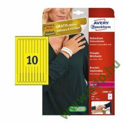 Etikett nyomtatható karszalag 265x18mm sárga 100db/dob Avery-Zweckform