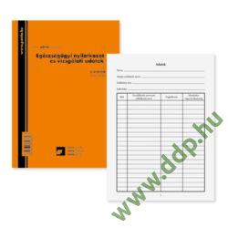 Egészségügyi EÜ. nyilatkozat és vizsgálati adatok 8 lapos füzet 102x140 mm C.3151-2/A PÁTRIA