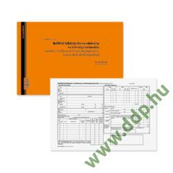 Belföldi kiküldetési rendelvény és költségelszámolás 25x2 lapos tömb A/4 fekvő PÁTRIA -B.18-70/UJ/V-