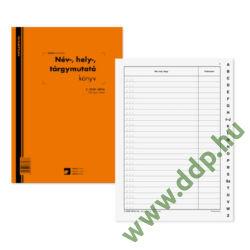 Név, hely, tárgymutató 100lapos könyv A/4 álló C.5230-167/A Pátria