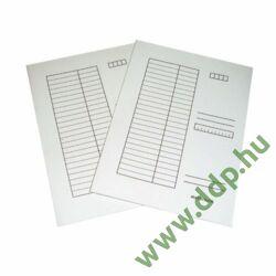 Iratgyűjtő A/4 karton fehér pólyás dosszié Q-CONNECT -090001Q-