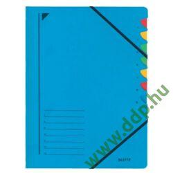 Rendezőmappa 7 rekesz gumis Leitz kék előrendező -39070035-