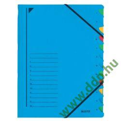 Rendezőmappa 12 rekesz gumis Leitz kék előrendező -39120035-