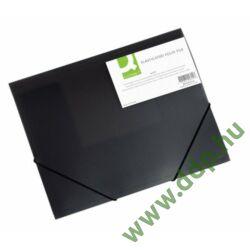 Iratgyűjtő gumis A/4 PP fekete mappa Q-CONNECT -KF02314-