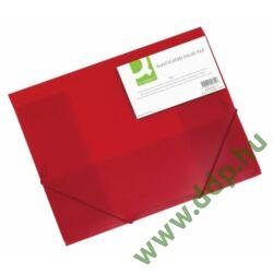 Iratgyűjtő gumis A/4 PP áttetsző piros mappa Q-CONNECT -KF02311-
