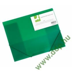 Iratgyűjtő gumis A/4 PP áttetsző zöld mappa Q-CONNECT -KF02313-
