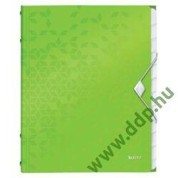 Rendezőmappa 12 részes műanyag Leitz WOW zöld -46340064-