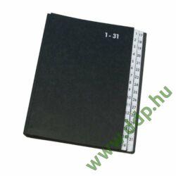Rendezőkönyv 1-31 fekete KF04564 előrendező Q-CONNECT -44050-04 -