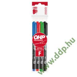OHP marker készlet 4db-os ICO F alkoholos filc -9070024000-