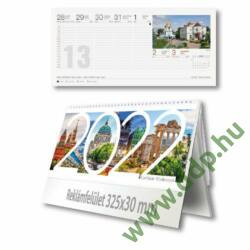 PALATIA Asztali naptár álló karton naptárháttal Európai fővárosok 325x155mm naptárháttal