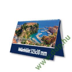 PALATIA Asztali naptár álló bőrős naptárháttal Európai fővárosok kék 325x155mm