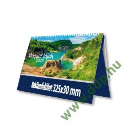 PALATIA Asztali naptár álló bőrős naptárháttal UASF-01 Magyar tájak fekete 325x155mm