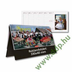 TOPTIMER Asztali naptár álló műbörös naptárháttal Hungary/Magyarország T542T BORDÓ 325x155mm