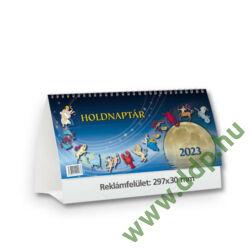 TOPTIMER Asztali naptár álló karton naptárháttal Holdnaptár T591P 297x138mm