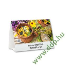 TOPTIMER Asztali naptár álló karton naptárháttal Gyógyító természet T587P 230x140mm