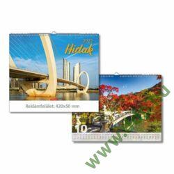 TOPTIMER Falinaptár Hidak T093-22 420x310mm