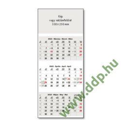 UNDENA Speditőr naptár USP-04 szürke 330x905mm Falinaptár 3 tömbös, 3 havi beosztással