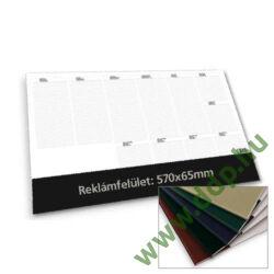TOPTIMER Könyöklő Deskplan T110 26 lapos FEKETE színű könyöklőcsíkkal 576x407mm