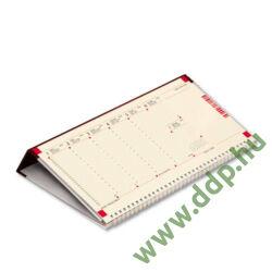 TOPTIMER Asztali naptár C050 fekvő Kék műbőrös naptárháttal perforált jegyzettömbbel Kalendapp alkalmazás kapcsolattal 325x155mm