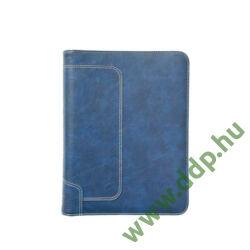 SATURNUS Gyűrűs kalendárium L227 sportos megjelenésű prégelt műbőr kék