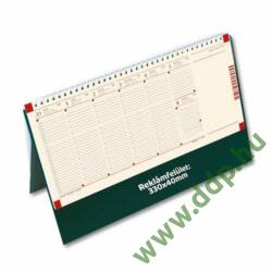 TOPTIMER Asztali naptár C051 álló Fekete műbőrös naptárháttal perforált jegyzettömbbel Kalendapp alkalmazás kapcsolattal 325x155mm