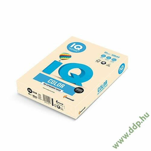 Színes fénymásolópapír A/4 80g IQ Color 500ív/csomag pasztell krém -180036719/CR20-
