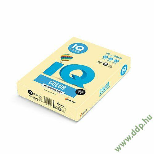 Színes fénymásolópapír A/4 80g IQ Color 500ív/csomag pasztell sárga -180037263/YE23-