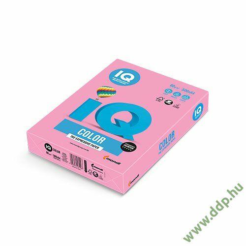 Színes fénymásolópapír A/4 80g IQ Color 500ív/csomag pasztell rózsa -180037195/PI25-