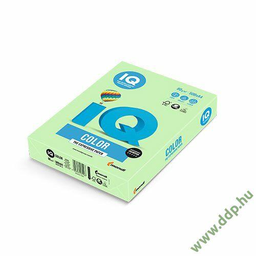 Színes fénymásolópapír A/4 80g IQ Color 500ív/csomag pasztell zöld -180037039/MG28-