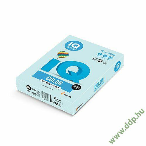 Színes fénymásolópapír A/4 80g IQ Color 500ív/csomag pasztell világoskék -180036687/BL29-