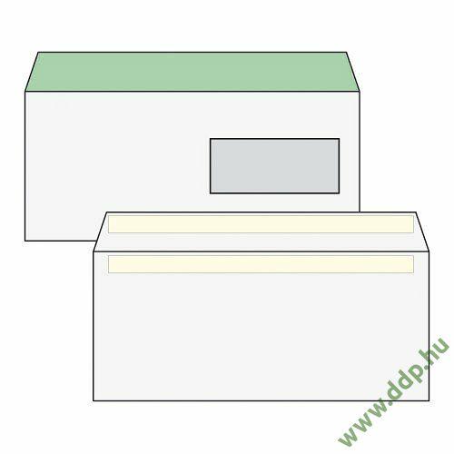 Boríték LA4 környezetbarát öntapadós 110 x 220 mm jobb ablakos 35x90mm (1C=100db)