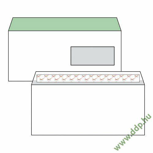 Boríték LA/4 szilikonos jobb ablakos 35x90 mm bélésnyomott (1C=100db)