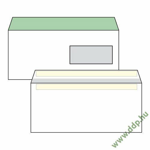 Boríték LA4 öntapadós ablakos jobb 35x90mm bélésnyomott (1C=100db)