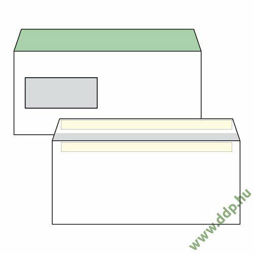 Boríték LA4 öntapadós ablakos bal 35x90mm bélésnyomott (1C=100db)