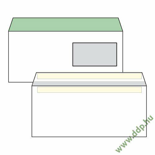 Boríték LA4 öntapadós ablakos jobb 45x90mm bélésnyomott EURO (1C=100db)