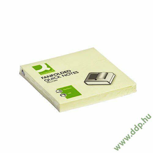 Öntapadós jegyzettömb 75x75mm ''Z'' standard sárga Q-CONNECT -FT510282757KF02161-
