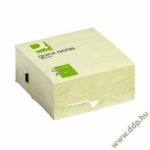 Öntapadós jegyzettömb 75x75mm 400lap Q-CONNECT -FT510283029/KF01346-