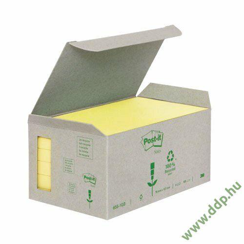 3M Post-it 655-1B 76x127mm 6x100lap/csm Green Line sárga öntapadós jegyzettömb -FT510118704-