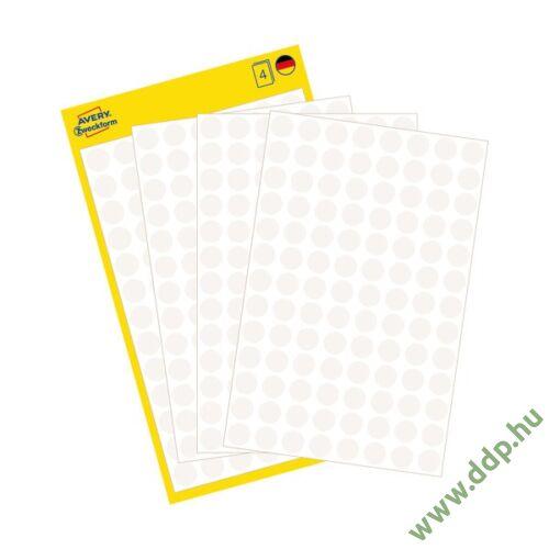 Etikett öntapadó 8mm kör Avery-Zweckform 3175 fehér 416 jelölőpont/csm