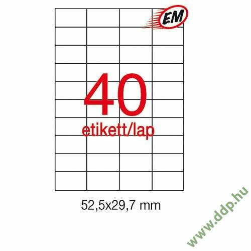 Etikett A1778 29,7x52,5mm 500ív Apli