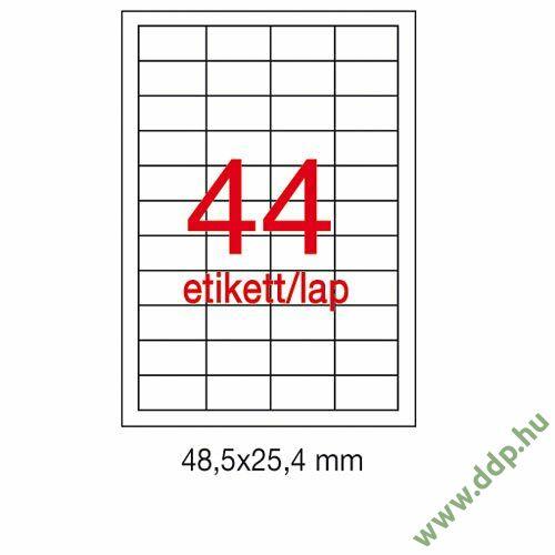 Etikett A10558 25,4x48,5mm 500ív Apli