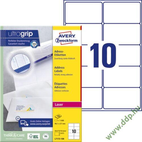 Etikett 7173 99,1x57mm 100ív L7173-100 Avery-Zweckform QuickPeel