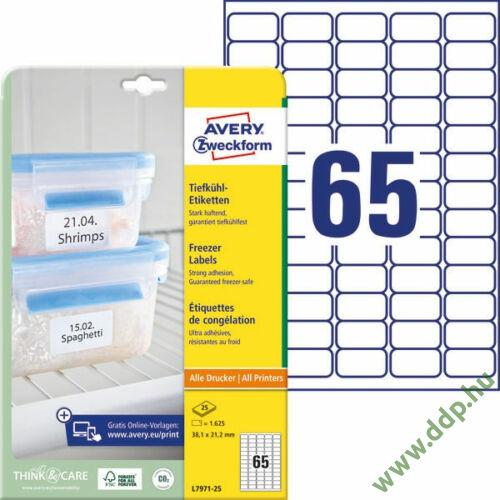 Etikett címke speciális L7971-25 fagyasztó címke 38,1 x 21,2 mm